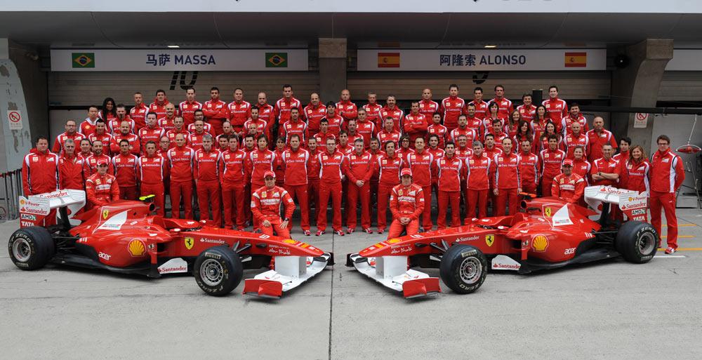 Foto squadra Ferrari